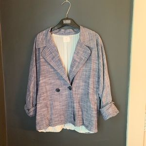 Urban Outfitters soft chambray blazer M